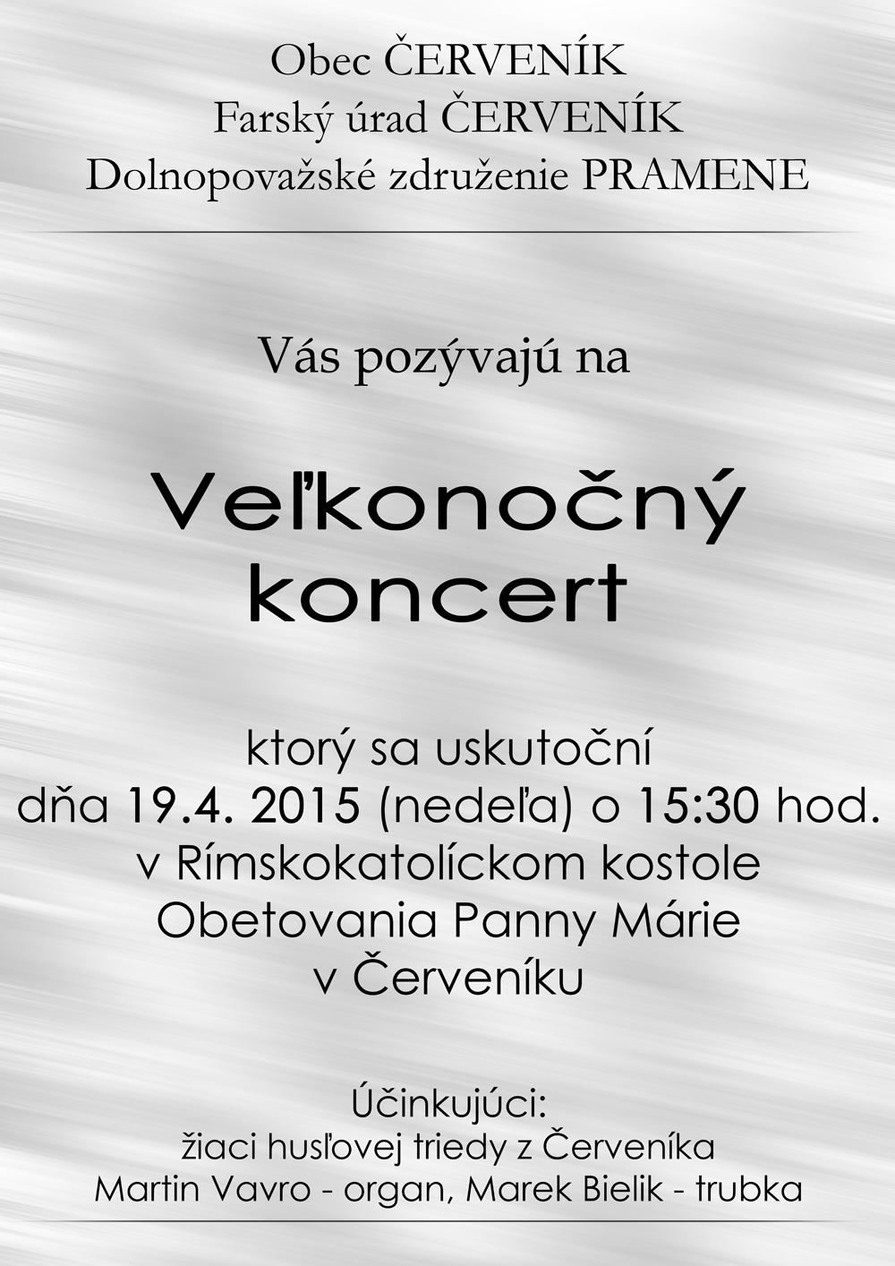 velkonocny koncert